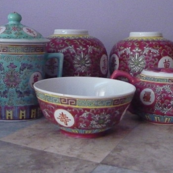 Aisian Tea Set Peices - Asian