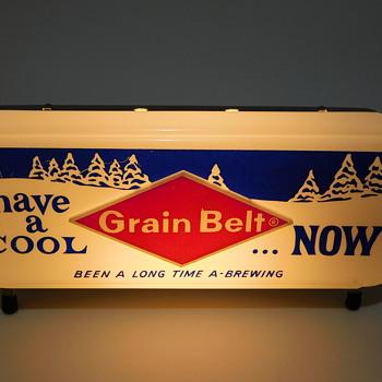 Late 50s....Early 60s Grain Belt Beer Cash Register Lighted Sign - Advertising