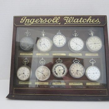 Ingersoll Watches Store Counter Display Cabinet - Advertising