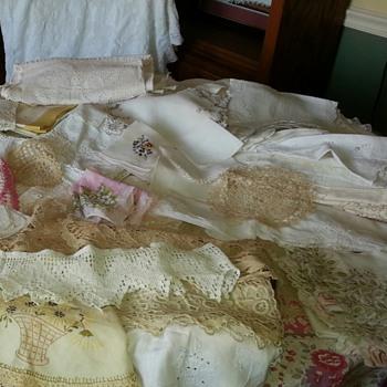Large Assortment of Vintage Linens