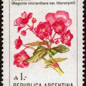 "Argentina - ""Flowers"" Postage Stamps - Stamps"