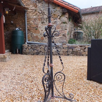 wrought iron and brass incense burner