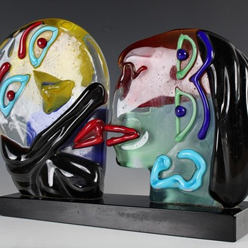 My  new Murano glass Picasso style sculpture - Art Glass