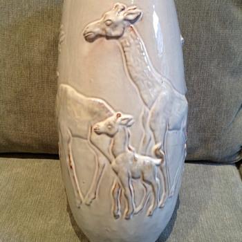 Mobach Utrecht Clay Glazed Giraffe Vase