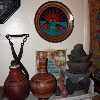 collection of molcajetes y tejolotes - Kitchen