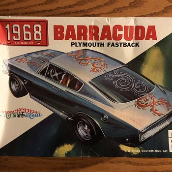 Original Rare Never Re-released 1968 Barracuda Fastback Model Kit - Model Cars
