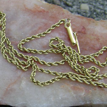 18 k Gold Chain Necklace - Fine Jewelry