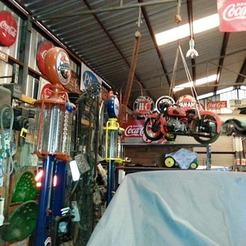 Amazing Collection of vintage gas pumps and signage - Petroliana