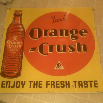 Orange Crush Sign...can someone tell me about it? - Signs