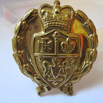 Miriam Haskell Regal Jewels Crest Heraldic Theme Brooch