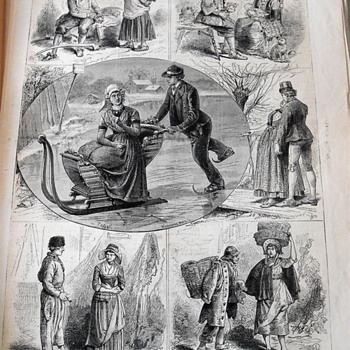 COMPLIMENTS OF THE SEASON - DUTCH ANTIQUE ETCHING - Posters and Prints