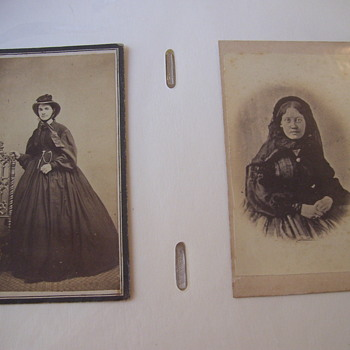FROM MY ALBUM, 2 CIVIL WAR LADIES, IN MOURNING!  POIGNANT.  WAR IS HELL!