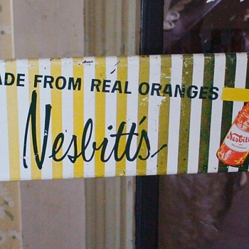 Nesbitt's Soda Vintage Door Push 1958