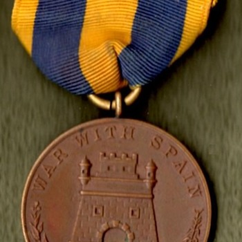 Spanish American War and Philippine Campaign Medals - Military and Wartime