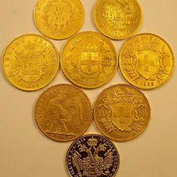 Foreign Gold From The 1800's & Early 1900's - World Coins