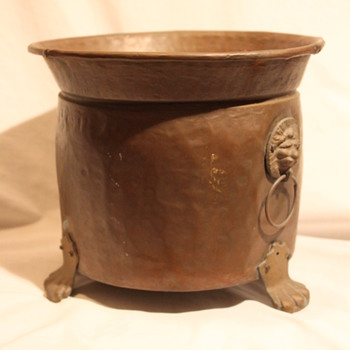 Antique Copper Pot & Bronze Hardware - Kitchen