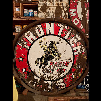 Golden Cowboy Frontier Sign - Signs