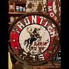Golden Cowboy Frontier Sign