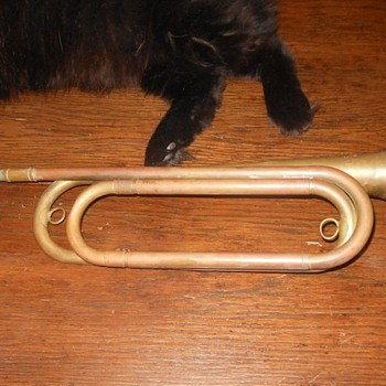 US Regulation Bugle Made in U.S.A. - Military and Wartime