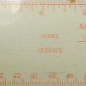 Dry cleaners give-away ruler? - Advertising