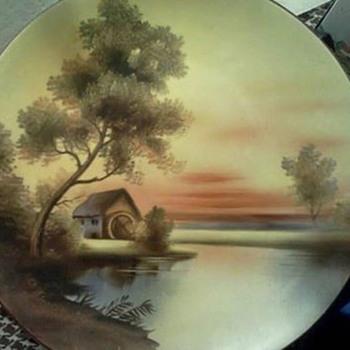 Noritake Wheel house/water house/ grain mill water scene