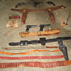 Old Movie Props From Gunsmoke Set Holster's Pistols Etc