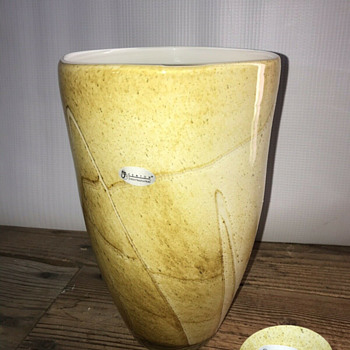 "Fenton ""International"" Golden Sand vase - Glassware"