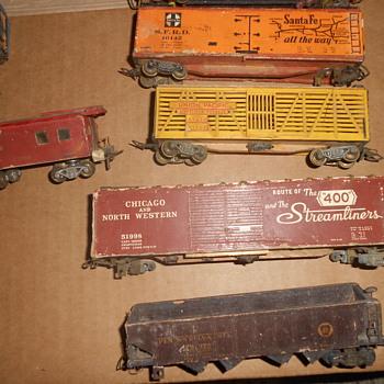 Vintage Cardboard or wooden trains