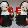 Vintage NOEL Catholic Nuns Salt and Pepper Shakers from Japan