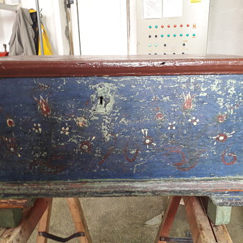 Interesting painted wedding box - Furniture