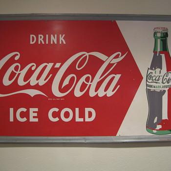 Unfinshed Coca Cola sign - Coca-Cola