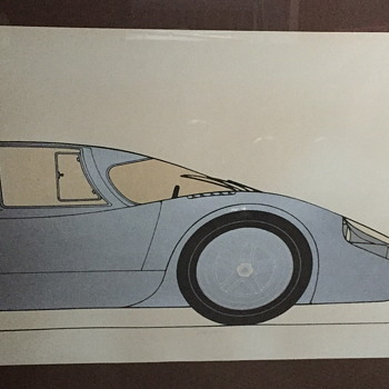 Car lithograph from 1970? - Fine Art
