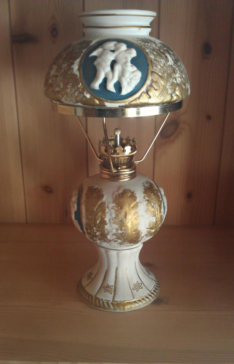Beautiful Ceramic Oil Lamp Collectors Weekly