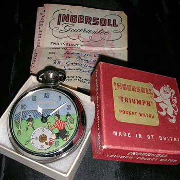 Ingersoll Animated Football Watch - Pocket Watches