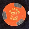 $2 Poker Chip from Hi Desert Casino, Calif. (shut in '97) Paulson TH&C w/ Gold Foil intact