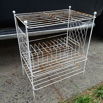 old wire LP/record player stand - Furniture