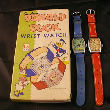 1948 Donald & 1947 Daisy Duck wristwatches  - Wristwatches
