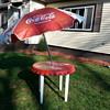 vintage Coca Cola  table bottle cap with umbrella