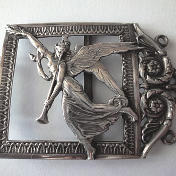 Art Nouveau Silver Buckle Part by Friedrich Reusswig - Hanau - 1903 - 1926.