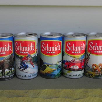 Schmidt Beer Cans