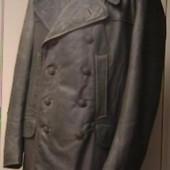 WW II German Leather Deck and Bridge Personnel Jacket - Military and Wartime