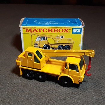 Mega Manly Material Matchbox Monday MB-63 Dodge Crane Truck 1968-1969 - Model Cars
