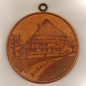 Carved Wood Plaque - Bad Durrheim, Germany - Folk Art