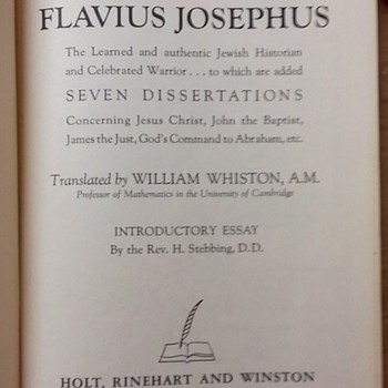 The Life and Works of Flavius Josephus - Books