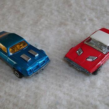 Matchbox Cars Dodge Challenger And Pontiac Firebird 1975