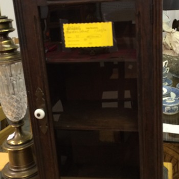 Today's thrift shop find antique advertising cabinet - Advertising