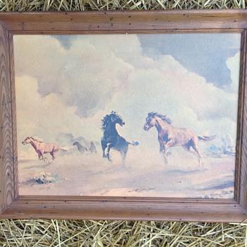 Horse painting - Fine Art