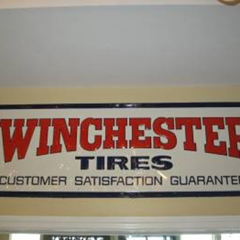Winchester Tires sign
