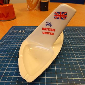 British United Airways ashtray - Advertising