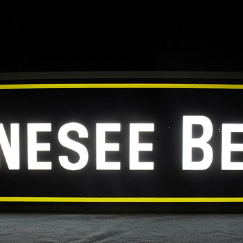 Vintage Genesee double sided sign - Breweriana